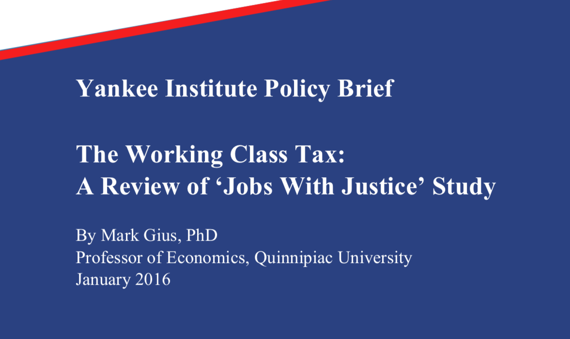 The Working Class Tax: A Review of 'Jobs With Justice' Study