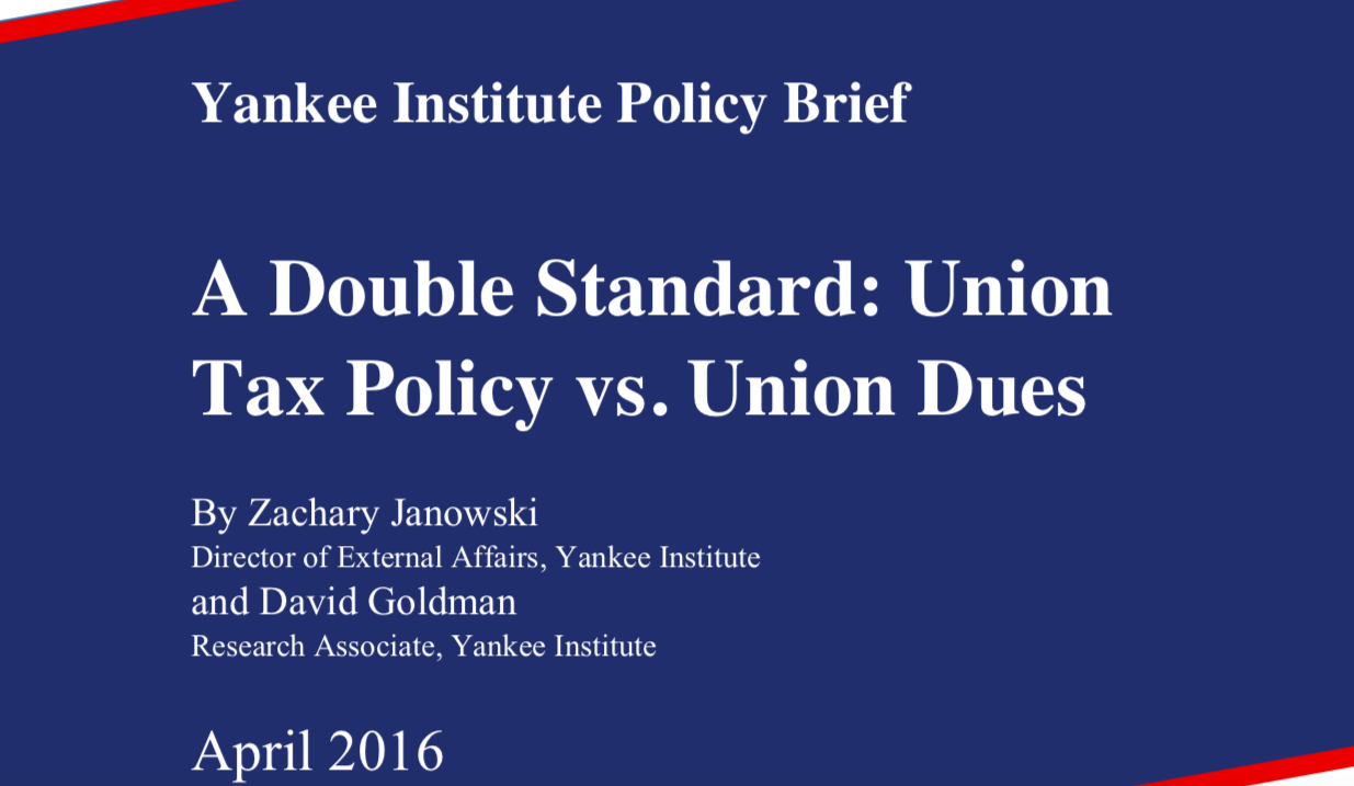 A Double Standard: Union Tax Policy vs. Union Dues