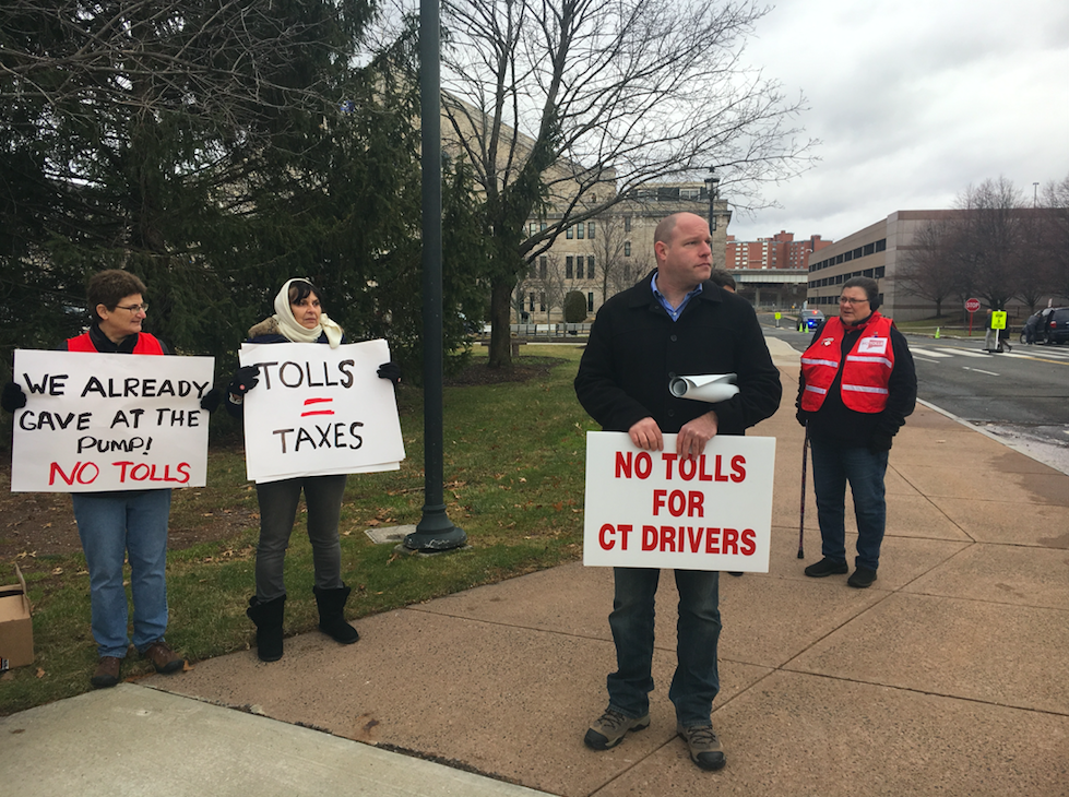New Britain Herald: Toll foes place 'Toll Troll' on state Capitol lawn