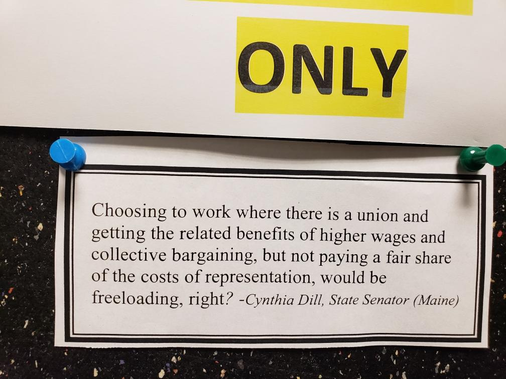 """Derogatory"" union bulletin board message sparks state labor relations complaint"