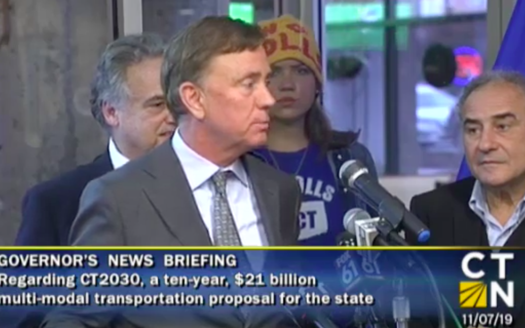"Notably absent from Gov. Lamont's new transportation plan: The word ""tolls"""