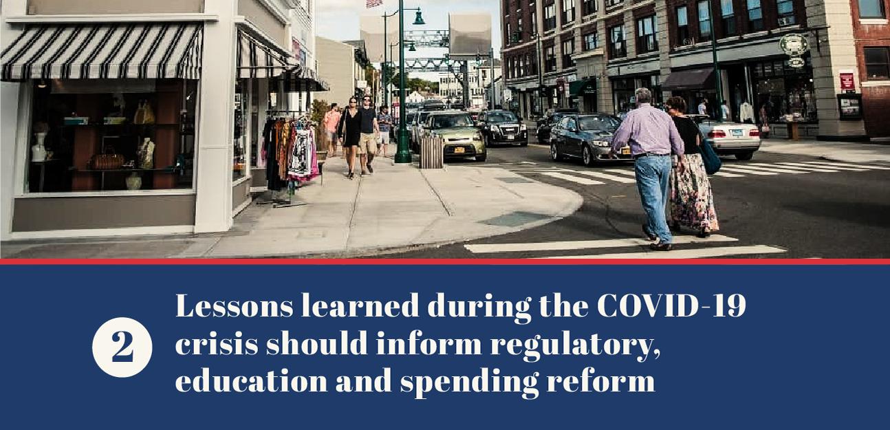 Regulatory, education and spending reform
