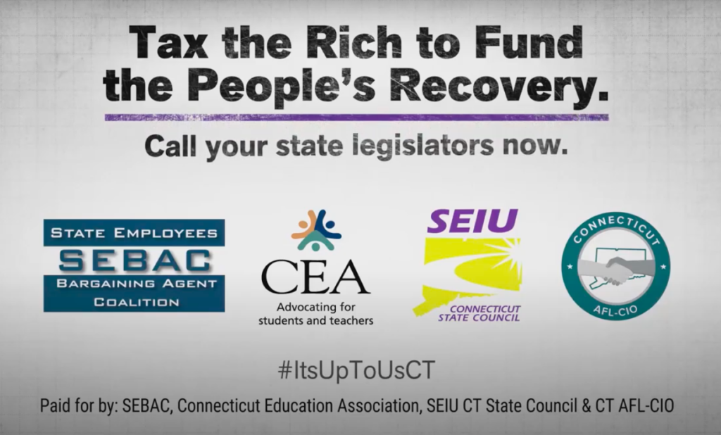 After securing raises for state employees, unions run ads to tax the rich